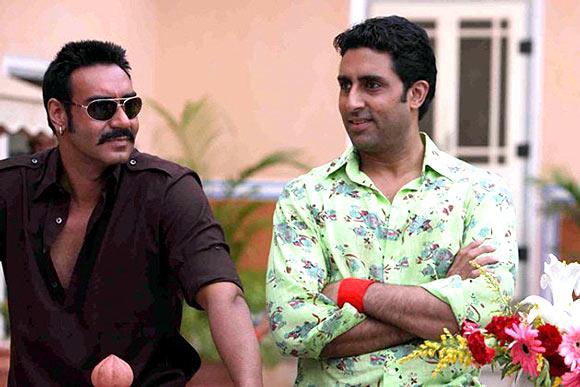 Ajay Devgn, Abhsihek Bachchan in Bol Bachchan