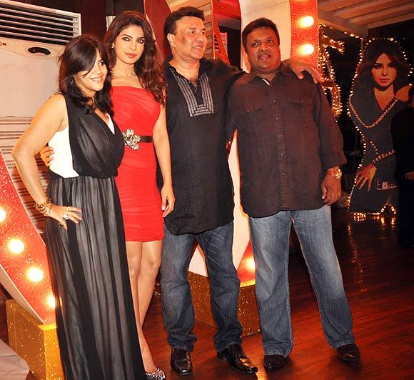Ekta Kapoor, Priyanka Chopra, Anu Malik, Sanjay Gupta