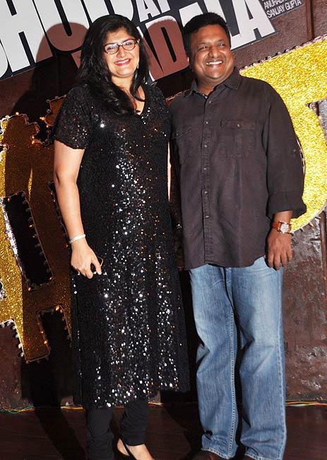 Sanjay Gupta along with wife Anuradha