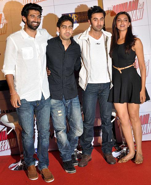 Aditya Roy Kapur, Ayan Mukherji, Ranbir Kapoor and Deepika Padukone
