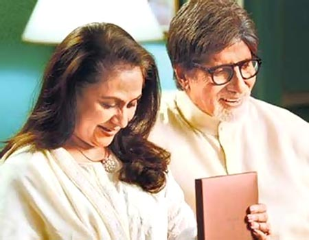 Jaya and Amitabh Bachchan in Tanishq TVC