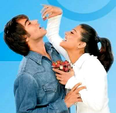 Ajay Devgn and Kajolin a Whirlpool adf