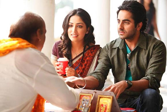 A scene from Vicky Donor