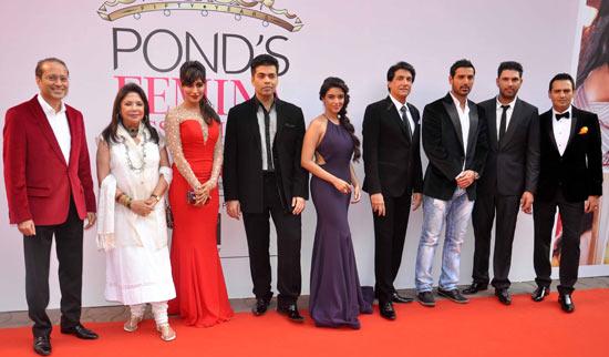 Vineet Jain, Ritu Kumar, Chitrangada Singh, Karan Johar, Asin, Shiamak Davar, John Abraham, Yuvraj Singh and Marc Robinson