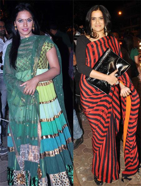 Neetu Chandra and Sona Mahapatra