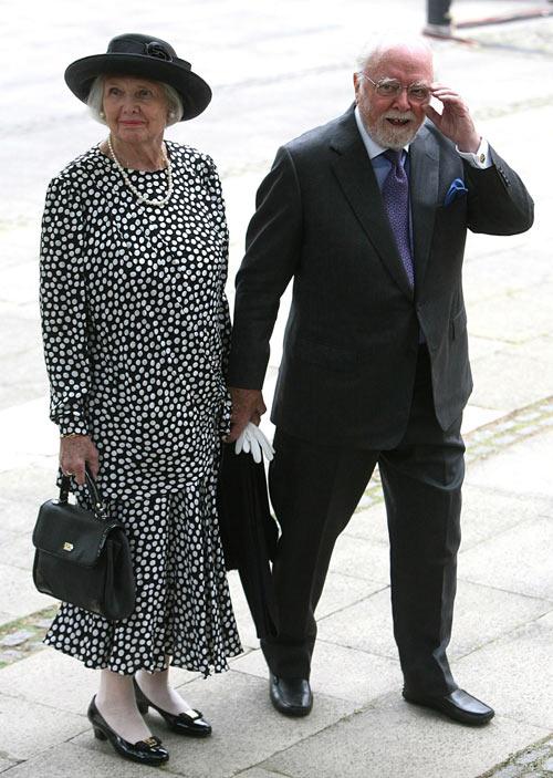 Richard Attenborough with wife Sheila Sim
