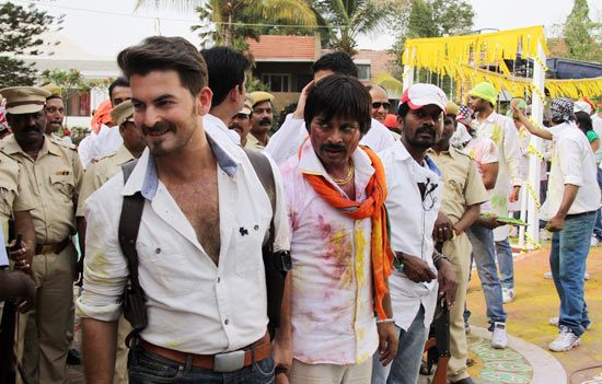 Neil Nitin Mukesh on the sets of Dussehra