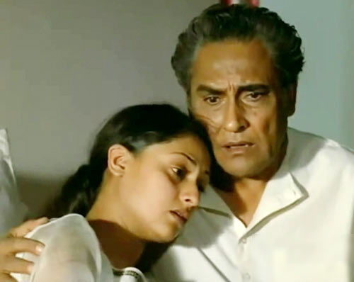 Jaya Bachchan and Ashok Kumar in Mili