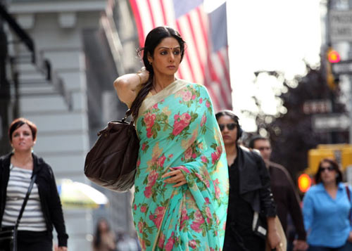Sridevi's character in English Vinglish travels to New York for the first time