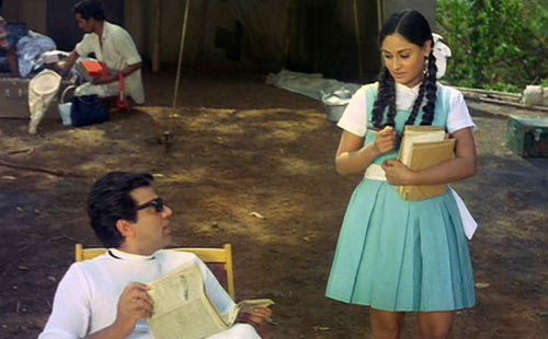Dharmendra and Jaya Bachchan in Guddi
