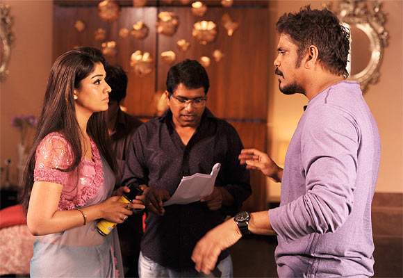 Director Dasaradh with Akkineni Nagarjuna and Nayanthara