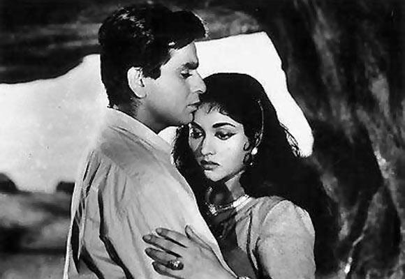 Dilip Kumar and Vyjayantimala in a scene from Madhumati