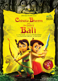 Movie poster of Chhota Bheem and THe Throne Of Bali