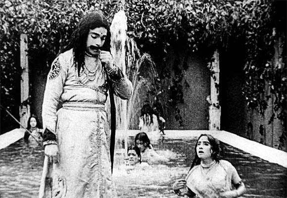 A still from Raja Harishchandra- India's first full-length feature film