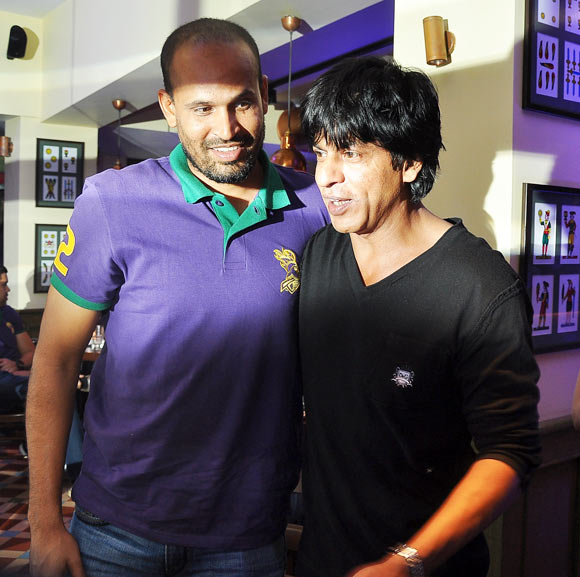 Yusuf Pathan and Shah Rukh Khan