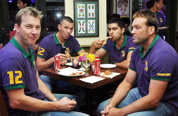 Brett Lee and Jacques Kallis