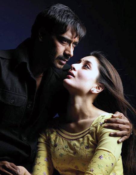 Ajay Devgn and Kareena Kapoor in Omkara