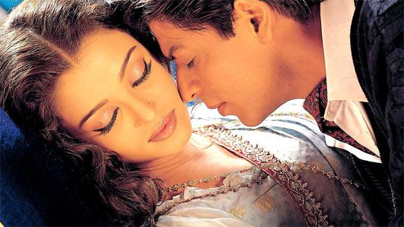 Aishwarya Rai and Shah Rukh Khan in Devdas