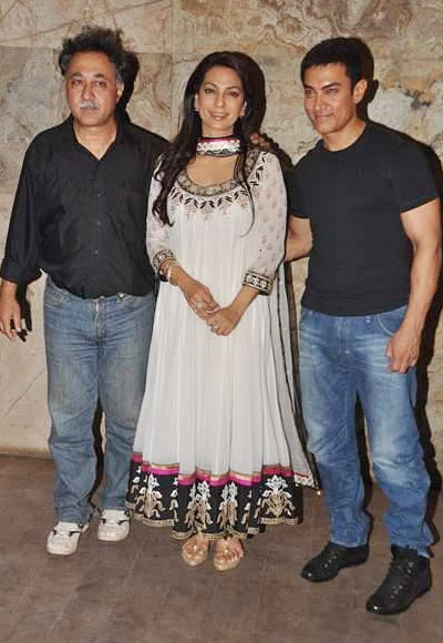 Mansoor Khan, Juhi Chawla and Aamir Khan