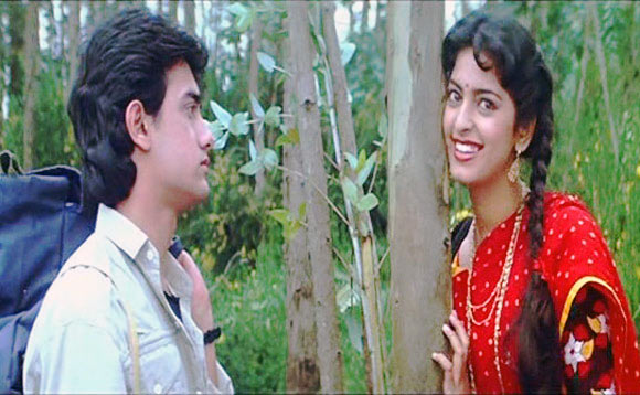 Aamir Khan and Juhi Chawla in Qayamat Se Qayamat Tak