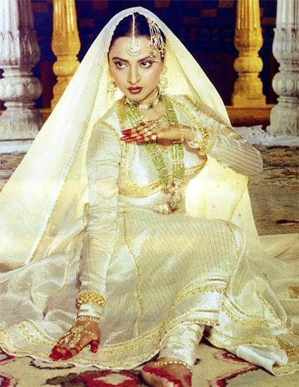 Rekha in and as Umrao Jaan