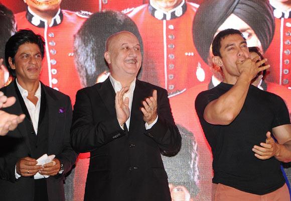 Shah Rukh Khan, Anupam Kher and Aamir Khan