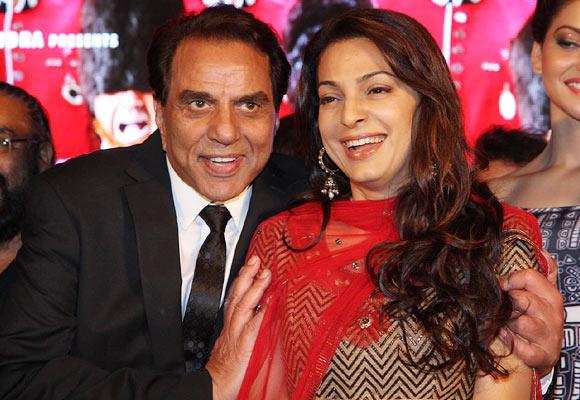 Dharmendra and Juhi Chawla