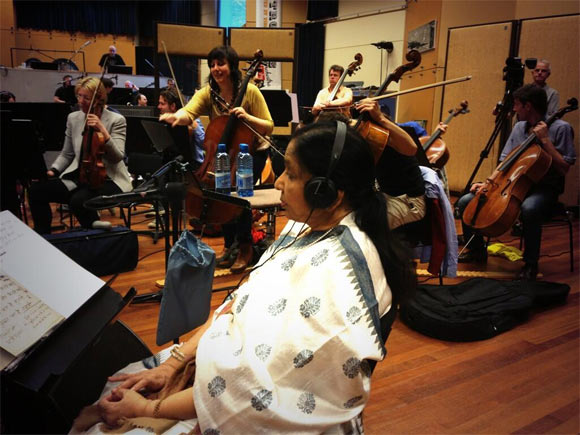 Asha Bhosle at the rehersals