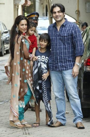 Malaika Arora Khan with Arhaan and Arbaaz Khan