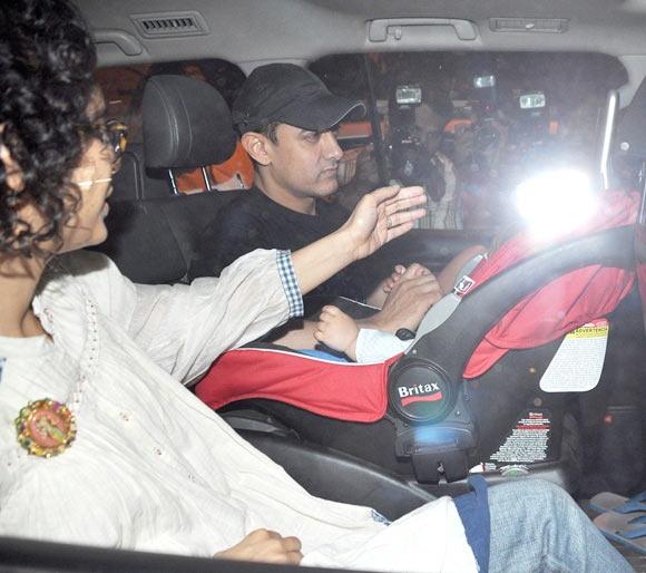 Aamir Khan and Kiran Rao with Azad