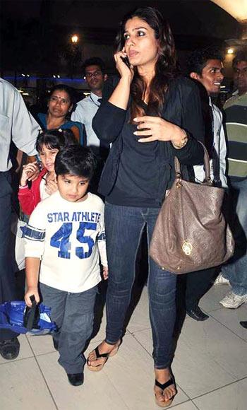 Raveena Tandon with Ranbir