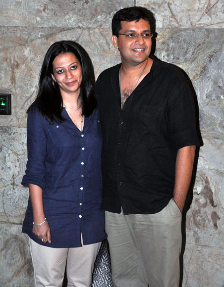 Karan Malhotra with wife Ekta