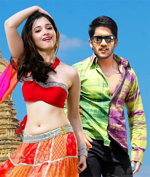 Tamannaah and Naga Chaitanya in Tadakha