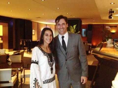 Tara Sharma and Jon Hamm