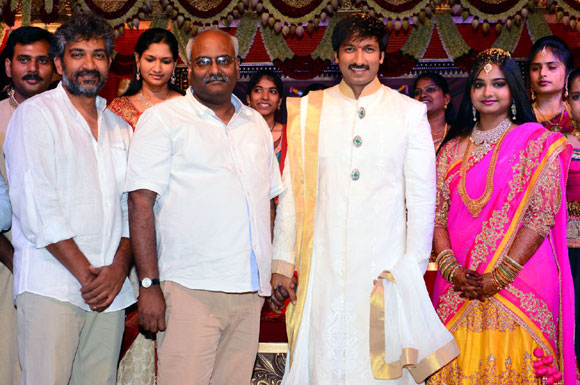 S S Rajamouli and M M Keeravani with Gopischand and Reshma