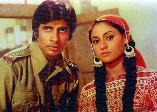 Amitabh and Jaya Bachchan in Zanjeer