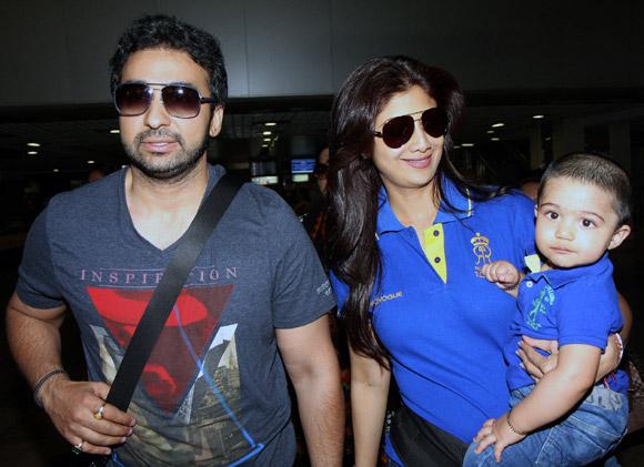 Raj Kundra, Shilpa Shetty and Viaan Raj Kundra
