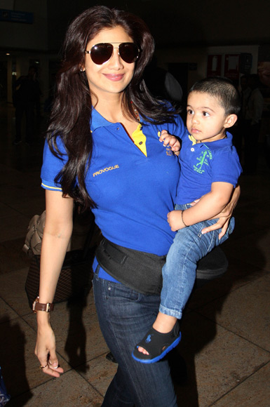 Shilpa Shetty with son Viaan Raj Kundra