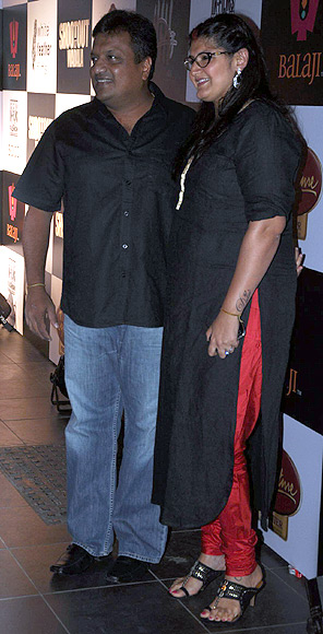 Sanjay Gupta with wife Anuradha Lekhi