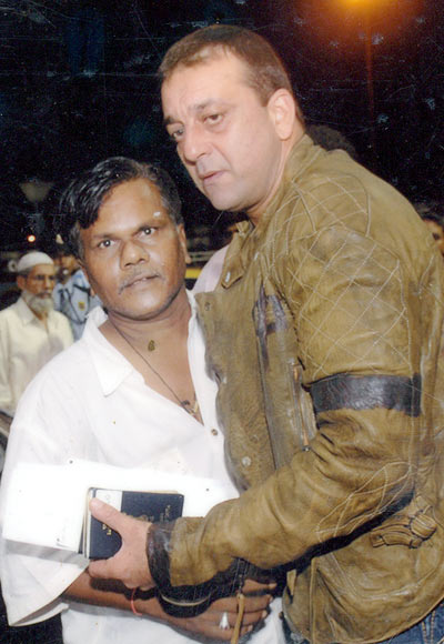 Jagannath Sasane with Sanjay Dutt