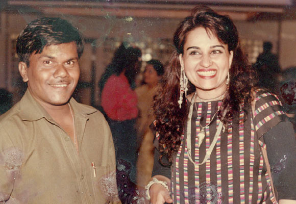 Jagannath Sasane with Reena Roy