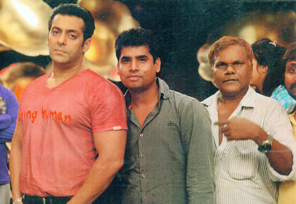 Salman Khan with Jagannath Sasane