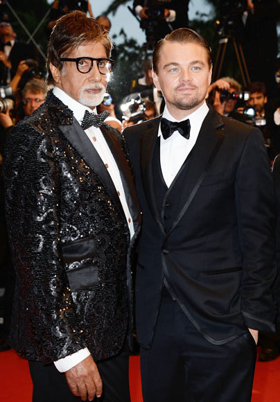 Current Bollywood News & Movies - Indian Movie Reviews, Hindi Music & Gossip - PIX: Amitabh Bachchan, Leo at Great Gatsby Cannes premiere