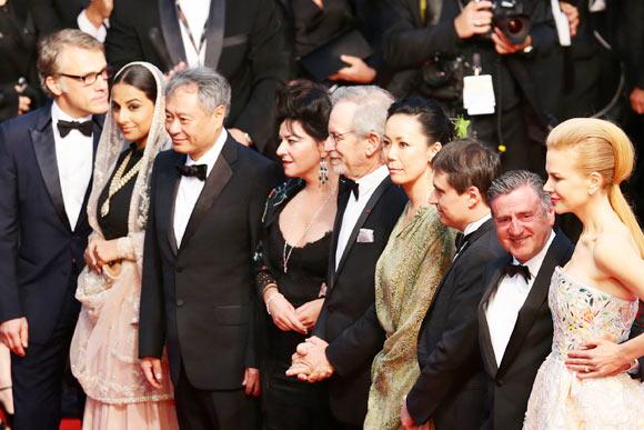 Christoph Waltz, Vidya Balan, Ang Lee, Lynne Ramsay, Steven Spielberg, Naomi Kawase, Cristian Mungiu, Daniel Auteui and Nicole Kidman