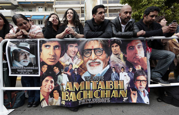 Bachchan fans at the opening ceremony