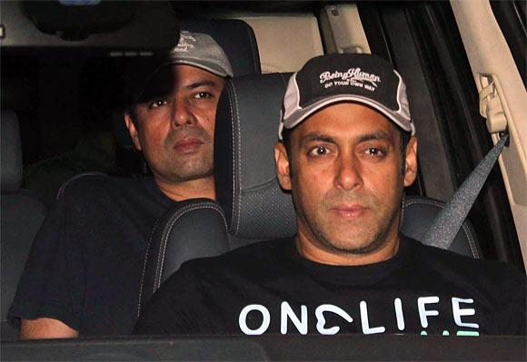 Atul Agnihotri and Salman Khan