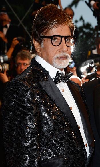 Amitabh Bachchan with Leonardo DiCaprio