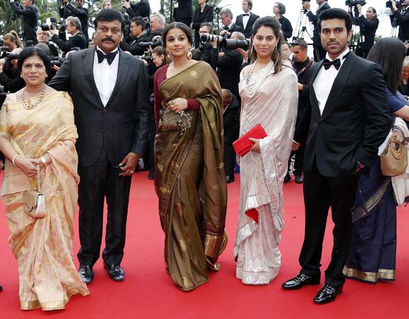 Surekha, Chiranjeevi, Vidya Balan, Upasana Kamineni and Ram Charan Teja