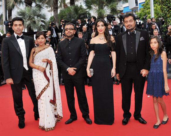 Karan Johar, Zoya Akhtar, Dibaker Banerjee, Ashi Dua, Anurag Kashyap and his daughter Aliya