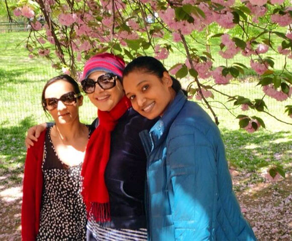 Manisha Koirala with Mona and Nalini